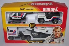 Buddy L Nasa Discovery Space Shuttle Semi Jeep Helicopter Steel Toy PlaySet