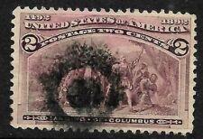 "Scott #231 ""Unuusal Target"" Fancy Cancel SON 2 Cent Columbian 1893 US 62C12"