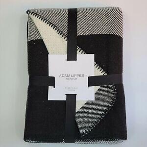 NWT! RARE Adam Lippes Target Black & White Reversible Plaid Throw Blanket
