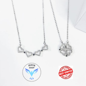 Lucky Love Heart Four-Leaf-Clover Necklace【Buy 2 save more $5!】