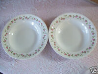 """Rare Set Of 2 Pontesa Ironstone 9"""" Deep Plate Soup Cereal Bowl Made In Spain"""