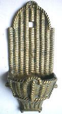 Hotte de vendange osier, bronze doré, Napoléon III, pyrogène et porte-allumettes