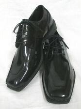 Men's Jean Yves Cosmopolitan Esmoquin Negro Zapatos De Boda Novio Baile de Graduación Talla 10 de ancho