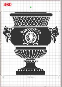Majestic Greek Vase No2 Stencil MYLAR A4 sheet strong reusable Art Craft Deco