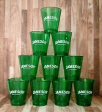 JAMESON Irish Whiskey Green Acrylic Reusable Shot Glasses Lot *Set of 10* NEW