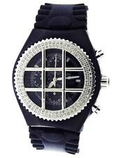 Men's Aqua Master 1.25ct Grill with black face diamonds watch