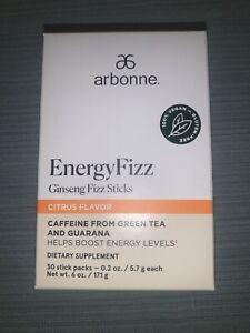 Arbonne Energy Fizz CITRUS Fizz Sticks 30 Sticks Exp 01/2023 Fast Free Shipping