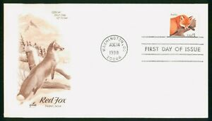 MayfairStamps US FDC Unsealed 1998 Red Fox Art Craft First Day Cover wwp60257