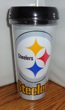 PITTSBURGH STEELERS TRAVEL MUG. 16 oz  TUMBLER MUG. NFL FOOTBALL.