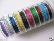 Wholesale Mixed 100 Meter(10 Roll) Copper Tiger Tail Beading Wire/0.38 H