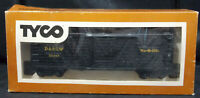 TYCO STOCK CAR D&RGW, Rio-Grande - 39497 BLACK. HO SCALE BOX. VINTAGE