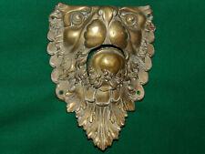 Rare antique bronze billiard pocket corner flat - Lion