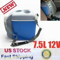 12V Portable Mini Fridge Cooler and Warmer 7.5 Liter for Home Cars 2.4KG