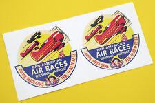 Boîtier Américain Air Races Shushan Rétro Style Vintage Autocollants 1 Paire
