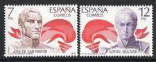 España estampillada sin montar o nunca montada 1978 SG2537-38 héroes de América Latina