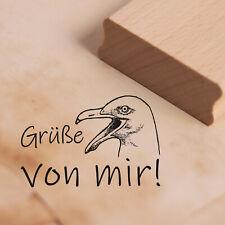 Stempel Holzstempel - Grüße von mir! - Möwe Möwen Motivstempel Abdruck 38x25mm ❤
