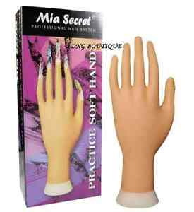 Mia Secret Soft Practice Hand with Stand for Professional Nail System