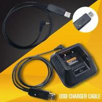 Portable Charger USB Cable For Baofeng UV-5R BF-F8HP Plus Walkie-Talkie Radio