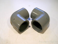 """Lot of (2) GF Sch-80 CPVC 1-1/4"""" Socket Solvent Weld 90° Elbow Pipe Fittings"""