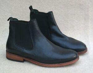 BARBOUR Chelsea Style Bedlington Black Leather Upper Boots UK 6 MRRP £139.00