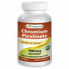 Best Naturals Chromium Picolinate 1000 mcg 120 Tablets Exp Date 2019, Unisex