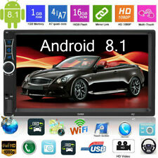 7'' 2DIN Android 8.1 Quad Core Car Stereo MP5 Player GPS Navi Bluetooth FM Radio