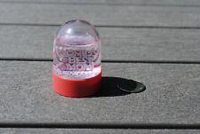 Vtg Snow Dome Globe World's Best Mom Hearts Snowdome Snowglobe