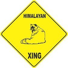 "13"" x 13"" plastic Himalayan sign xing Crossings Animal cat"
