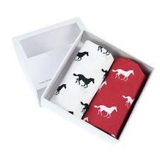 Red & White Horse Handkerchief Gift Set (66-HR-17)