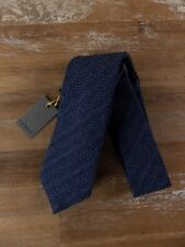 CANALI navy blue wool silk mix tie authentic - NWT