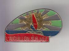 RARE PINS PIN'S .. SPORT NAUTIQUE WINDSURF PLANCHE A VOILE AIGUILLON S/MER 85~DP