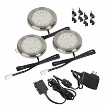 Westek LED Silver Ultra Thin Accent Light 3-Pack LSP30KBCC