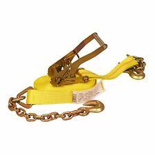 "2"" x 30' Ratchet Strap w/ Chain Anchor Extension"
