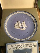 Vintage English Wedgwood Jasperware Bicentenary Mathew Flinders & Original Box