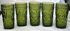 5-Avacado Indiana Glass Glasses
