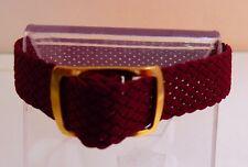 Bracelet Montre Watch Bands Nylon Tressé Style Nato 8 mm Bordeaux Longueur 22 cm