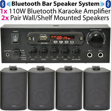 Bar/Restaurant Bluetooth Wall Speaker System - Wireless Background Music Amp Kit