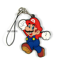 T1583 Anime Game Super Mario Bros rubber Keychain Key Ring Race straps Cosplay A