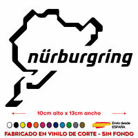 PEGATINA NURBURGRING CIRCUITO NÜRBURGRING STICKER VINILO MOTO GP ALEMANIA COCHE