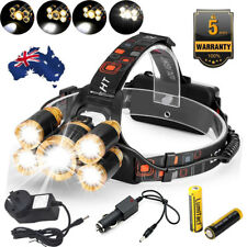 80000lm LED Headlamp Rechargeable Head Light Flash Lamp Torch CREE XML T6 Zoom