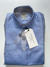 Selected Homme Identity Mens Size XS MARK Shirt Light Blue 2 Ply Slim Fit BNWT