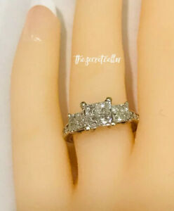 Solid 10k White Gold 1.0ctw Natural Diamond Invisible Set Engagement Ring