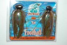 Jewel Baits Heavy Cover Football Jig, 2 pk, 3/4 oz, Brown Purple Flash, 1594