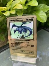First Edition Shining Charizard Gold Metal Pokemon Card