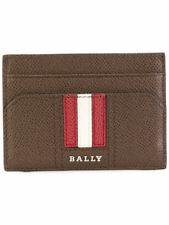 Bally Striped Card Wallet Card Holder - NEW