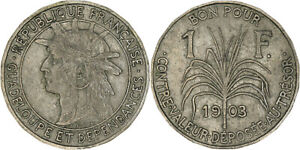 Guadeloupe: Franc copper-nickel 1903 - VF-XF