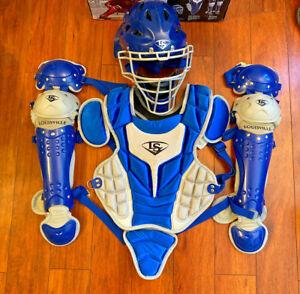 Louisville Slugger Youth PG Series 5 3-Piece Catcher's Set Royal & Gray Baseball