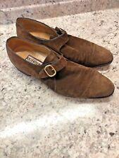 ARTIOLI ITALY brown suede buckle shoes size 11 m