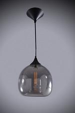 Classic Glass Pendant Smoke with 4W LED Filament Lamp