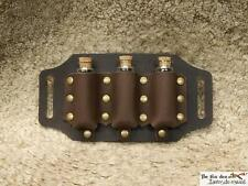 Leather 3 vial holder to be put on a belt, perfect for costume and LARP, GN